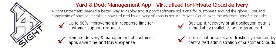 Virtualized Yard & Dock Mgmt System - Private Cloud Delivery